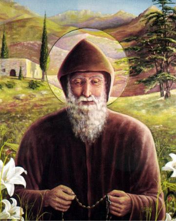 Invitación a misa de San Charbel.