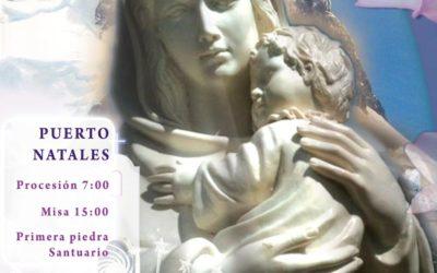 Peregrinación a la Virgen de la patagonia en Puerto Natales
