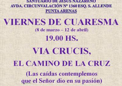CARTEL VIA CRUCIS REDUC