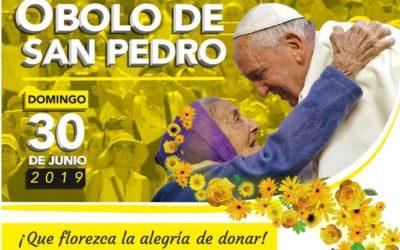 Sábado 29 y domingo 30 de junio colecta del Obolo de San Pedro