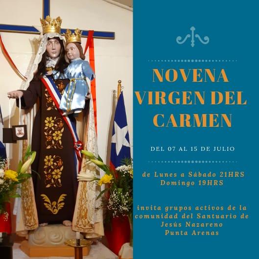 Celebración de la Virgen del Carmen en Santuario de Jesús Nazareno