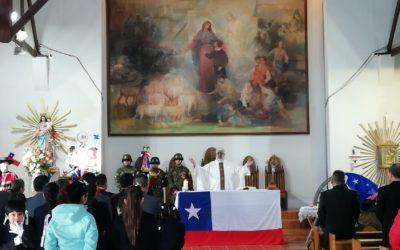 Celebración de fiestas patrias en parroquia San Francisco de Sales de Porvenir