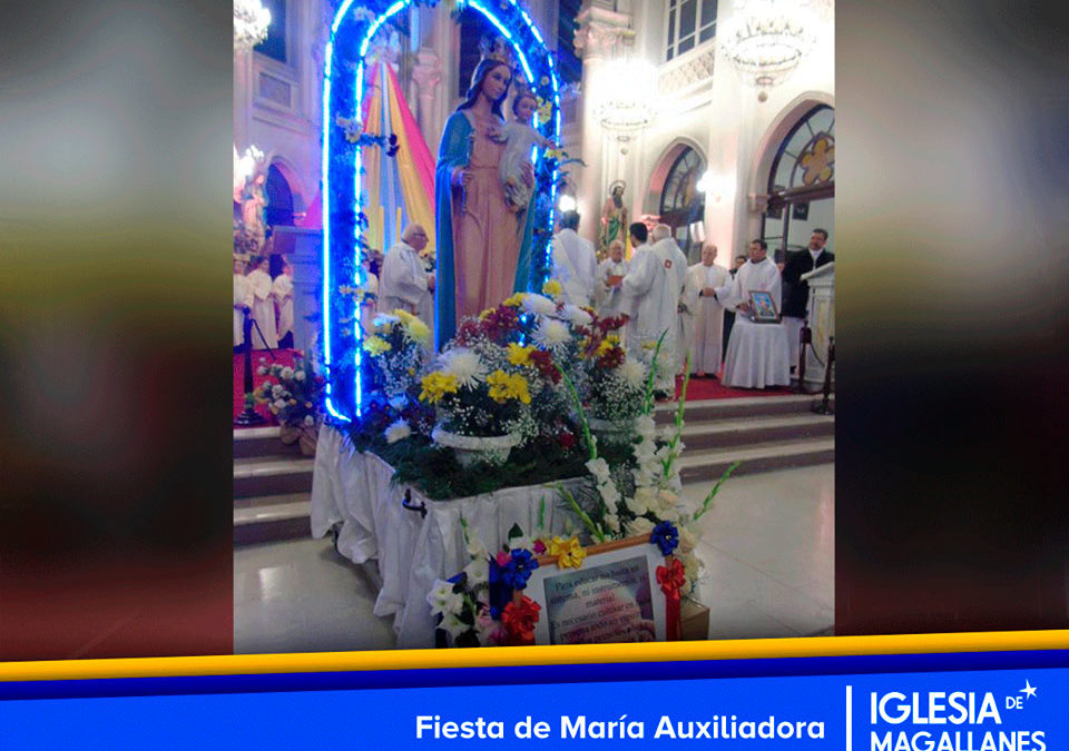Eucaristía y procesión en fiesta de María Auxiliadora