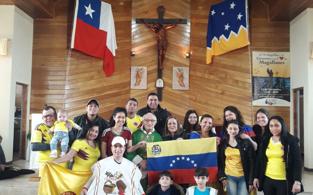 Celebración del día del migrante en Comunidad Nuestra Señora de las Nieves.