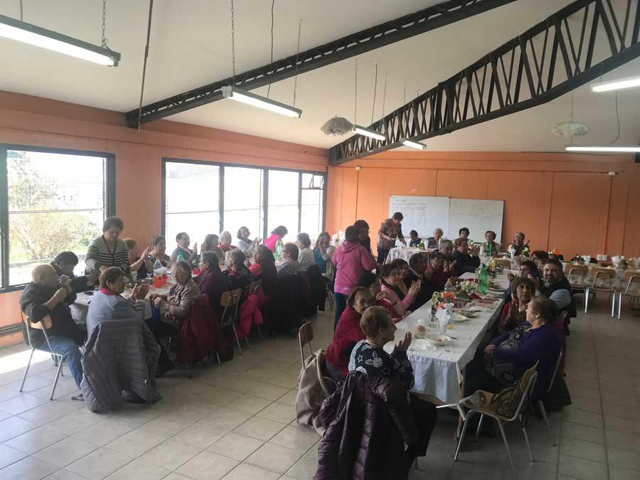 Convivencia de clubes de adulto mayor en Parroquia Nuestra Señora de Fátima