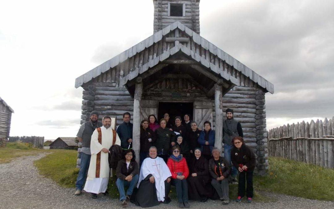 Celebración en la capilla de Fuerte Bulnes